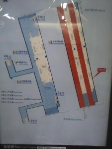 上大路駅構内図