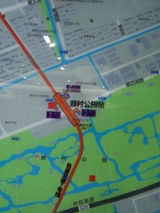 顧村公園駅周辺図(出入り口)