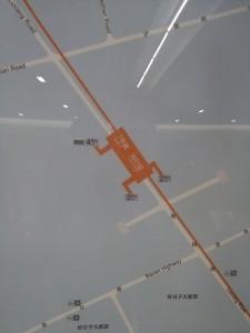 劉行駅周辺図(出入り口)