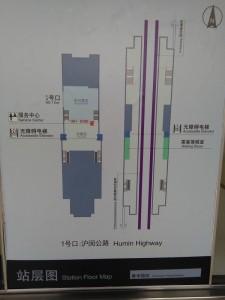 春申路駅構内図