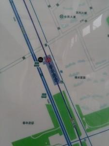 春申路駅周辺図(出入り口)