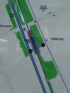 銀都路駅周辺図(出入り口)
