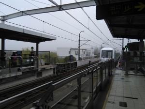 顓橋駅ホーム