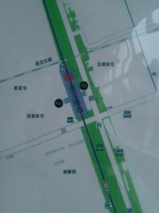剣川路駅周辺図(出入り口)