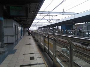 東川路駅ホーム