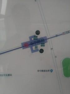 華寧路駅周辺図(出入り口)