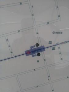 文井路駅周辺図(出入り口)