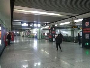 張江高科駅コンコース