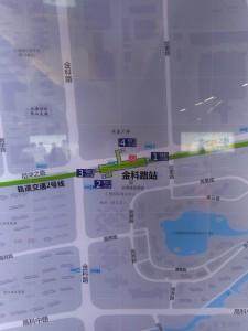 金科路駅周辺図(出入り口)