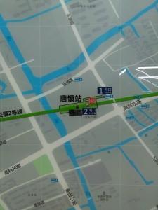 唐鎮駅周辺図(出入り口)
