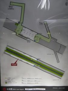 創新中路駅構内図