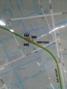 創新中路駅周辺図(出入り口)