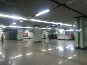 華夏東路駅コンコース