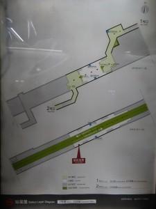 川沙駅構内図