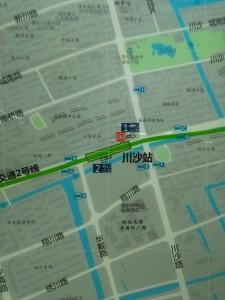 川沙駅周辺図(出入り口)