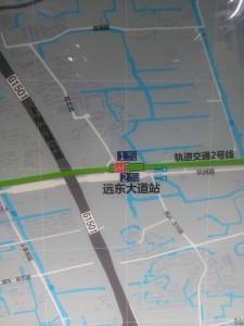 遠東大道駅周辺図(出入り口)