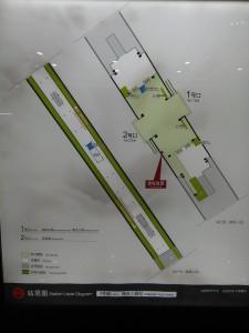 海天三路駅構内図