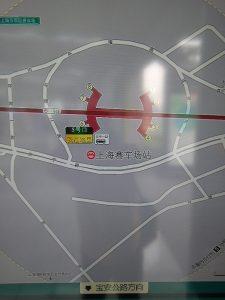 上海賽車場駅周辺図(出入り口)