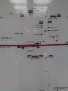 安亭駅周辺図(出入り口)