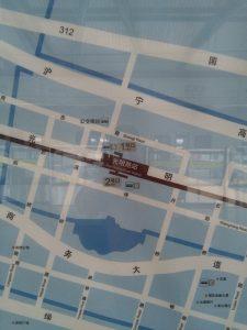 光明路駅周辺図(出入り口)