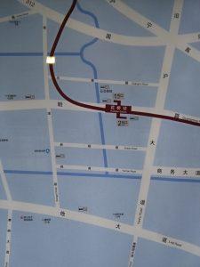 花橋駅周辺図(出入り口)