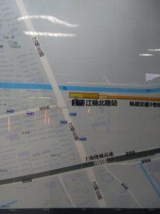 江楊北路駅周辺図(出入り口)