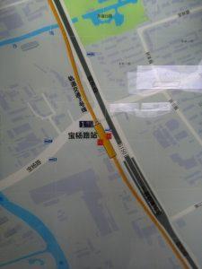 宝楊路駅周辺図(出入り口)