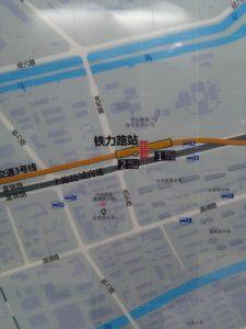 鉄力路駅周辺図(出入り口)