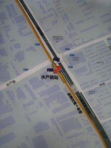 水産路駅周辺図(出入り口)