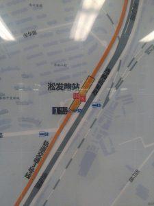 淞発路駅周辺図(出入り口)