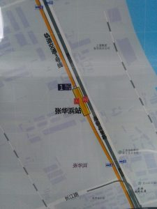 張華浜駅周辺図(出入り口)