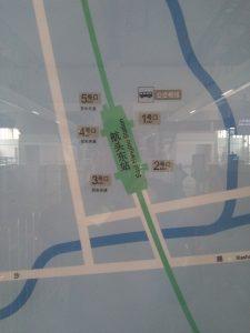 航頭東駅周辺図(出入り口)