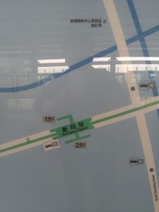 新場駅周辺図(出入り口)