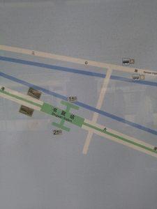 書院駅周辺図(出入り口)