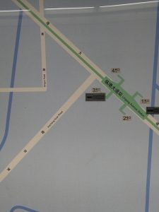 臨港大道駅周辺図(出入り口)