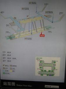 臨港大道駅構内図