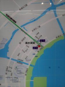 滴水湖駅周辺図(出入り口)