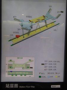 提籠橋駅構内図