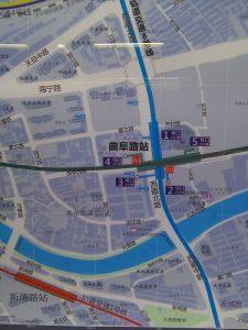 曲阜路駅周辺図(出入り口)