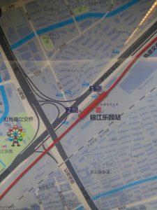 錦江楽園駅周辺図(出入り口)