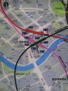 漢中路駅周辺図