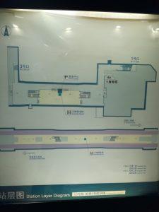 虹橋1号航站楼駅構内図