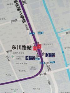 東川路駅周辺図(出入り口)