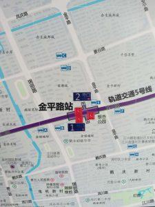 金平路駅周辺図(出入り口)