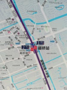 顓橋駅周辺図(出入り口)