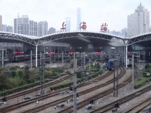 上海駅ホーム