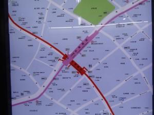 長寿路駅周辺図