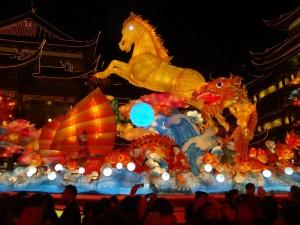 2014年春節の豫園ランタン祭り