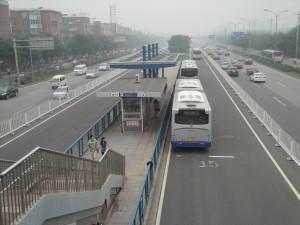 写真は北京のBRT路線