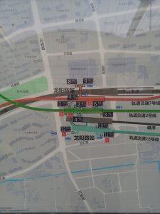 龍陽路駅周辺図(出入り口)